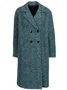 Zelený zimní vlněný kabát s podšívkou s příměsí hedvábí Kvinna