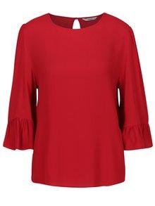 Bluza rosie cu maneci 3/4 si volane - ONLY Marly