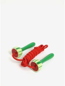 Červeno-zelené dětské švihadlo Sass & Belle