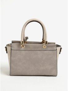 Béžová kabelka do ruky so strapcami Juno