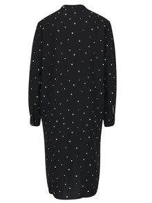 Čierne vzorované košeľové šaty Jacqueline de Yong Lisa