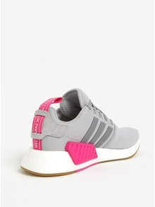 Svetlosivé dámske tenisky so semišovými detailmi adidas Originals NMD R2