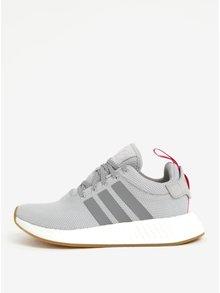 Pantofi sport gri cu detalii din piele pentru femei  adidas Originals NMD R2