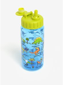 Modro-zelená chlapčenská fľaša na pitie Tyrrell Katz Dinosaurs