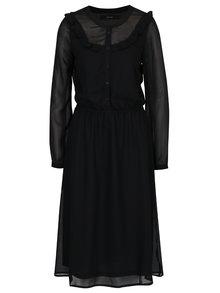 Černé šaty s průsvitnými rukávy rukávy VERO MODA Rose