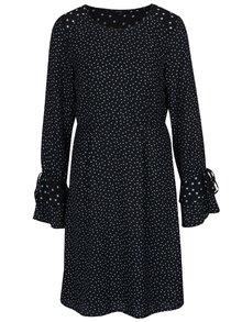 Černé puntíkované šaty se zvonovými rukávy VERO MODA Dragana