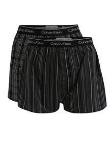 Súprava dvoch vzorovaných classic fit trenírok v čiernej farbe Calvin Klein