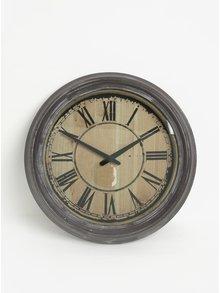 Hnedé nástenné hodiny Dakls
