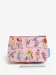Světle růžová holčičí toaletní taštička Tyrrell Katz Flower Fairy