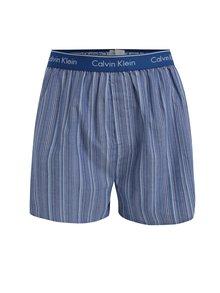Súprava dvoch vzorovaných classic fit trenírok v modrej farbe Calvin Klein