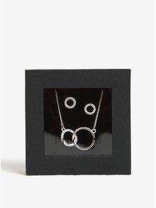 Set postříbřeného řetízku s přívěskem a náušnic v dárkové krabičce Pilgrim