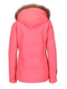 Ružová dámska zimná funkčná vodovzdorná bunda Meatfly Fluffy