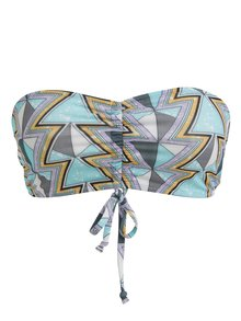 Sutien de baie cu print geometric turcoaz - Noisy May Amazon
