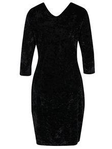 Rochie neagra cu aspect catifelat Yest