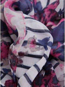 Růžovo-modrý vzorovaný šátek Tom Joule Wensley