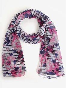 Ružovo-modrá vzorovaná šatka Tom Joule Wensley