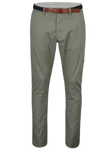 Kaki chino nohavice s opaskom Selected Homme Hyard