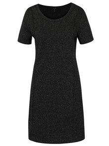 Čierne trblietavé šaty Yest