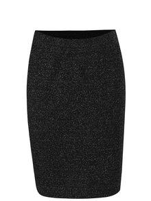 Čierna trblietavá puzdrová sukňa Yest