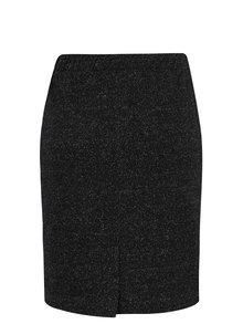 Černá třpytivá pouzdrová sukně Yest