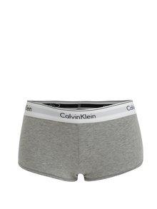 Boxeri gri melanj cu banda lata si logo pentru femei - Calvin Klein