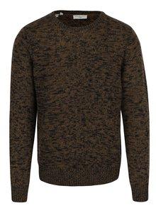 Černo-khaki žíhaný svetr Selected Homme Bart