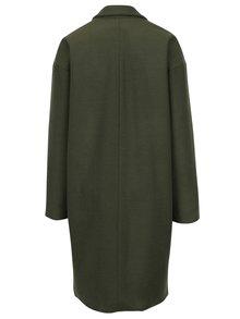 Zelený dámsky vlnený kabát BLUZAT