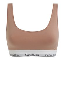 Bustier sport roz prafuit cu decupaj pe spate si logo - Calvin Klein