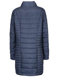 Modrý žíhaný prošívaný kabát Gina Laura