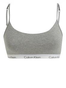 Sivá melírovaná športová podprsenka Calvin Klein