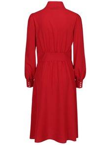 Červené šaty s dlhým rukávom Bohemian Tailors Bera