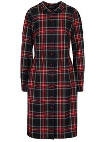 Červeno-černé kostkované šaty s límečkem Bohemian Tailors Carola