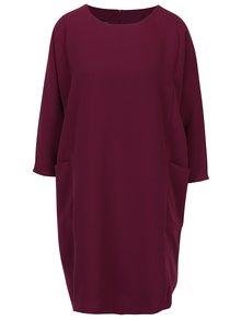 Fialové oversize šaty s netopierími rukávmi BLUZAT