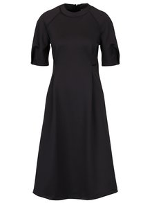 Tmavě šedé áčkové šaty s kapsami  Bluzat