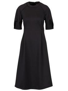 Tmavosivé áčkové šaty s vreckami BLUZAT