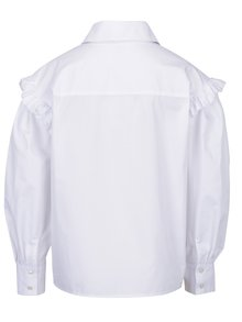 Bílá dámská oversize košile s volány Bluzat