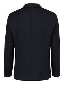 Tmavě modré oblekové sako s příměsí vlny Selected Homme Done-Tux