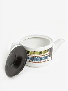 Ceainic alb cu print pasari - Magpie Family of Birds