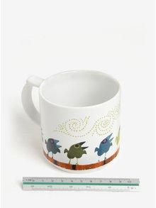 Bílý hrnek s motivem ptačí rodiny Family of Birds Coffee Mug