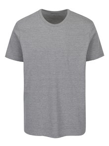 Tricou gri melanj regular fit Burton Menswear London