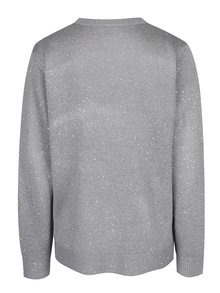 Sivý sveter s flitrami Jacqueline de Yong Glitter