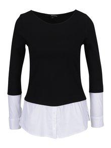 Bluza cu terminatie de camasa negru&alb  TALLY WEiJL