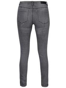 Šedé slim fit džíny s pruhy na bocích VERO MODA Seven