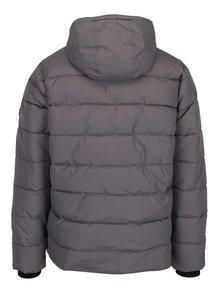 Sivá prešívaná bunda s kapucňou Burton Menswear London