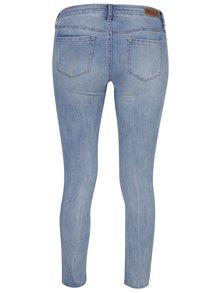 Světle modré skinny džíny s potrhaným efektem a korálky TALLY WEiJL