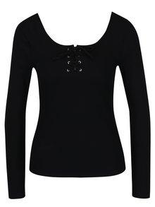 Bluza neagra cu siret Miss Selfridge