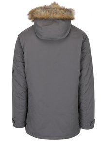 Sivá bunda s umelou kožušinou Burton Menswear London