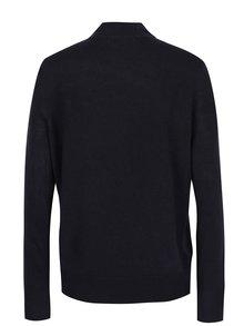 Tmavomodrý sveter so stojačikom a vreckami VERO MODA Sami