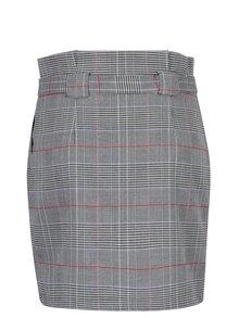 Bílo-černá vzorovaná sukně s páskem Miss Selfridge
