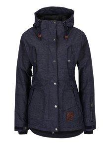 Tmavomodrá dámska melírovaná nepremokavá zimná bunda NUGGET Anja